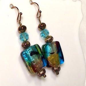 🌺Artisan Glass Earrings